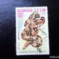 Sellos: *NICARAGUA, 1982, FAUNA, BOA CONSTRICTOR, YVERT 1009 AEREO. Lote 288975083