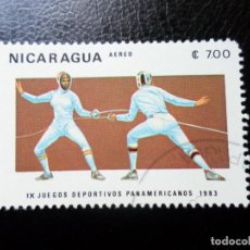 Sellos: *NICARAGUA, 1983, 9 JUEGOS PANAMERICANOS, YVERT 1027 AEREO. Lote 288975983