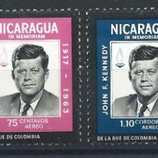 Sellos: NICARAGUA PA N°543/46* (MH) 1965 - JOHN F. KENNEDY. Lote 289534538