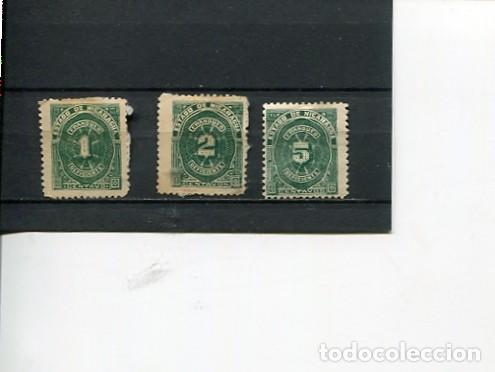 SELLOS ANTIGUOS CLASICOS DE NICARAGUA IMPUESTOS TAXA RECARGO AÑO 1898 (Sellos - Extranjero - América - Nicaragua)