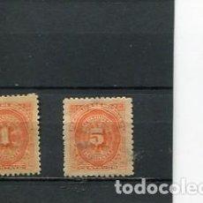 Sellos: SELLOS ANTIGUOS CLASICOS DE NICARAGUA IMPUESTOS TAXA RECARGO AÑO 1896. Lote 289555278