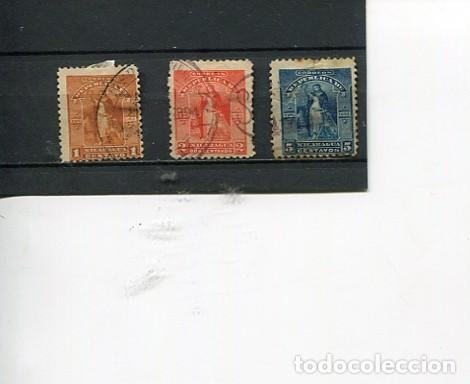 SELLOS ANTIGUOS CLASICOS DE NICARAGUA AÑO 1894 USADOS RAROS (Sellos - Extranjero - América - Nicaragua)
