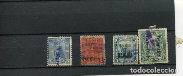 SELLOS ANTIGUOS CLASICOS DE NICARAGUA SOBRECARGA SOBRETASA TELEGRAFOS (Sellos - Extranjero - América - Nicaragua)