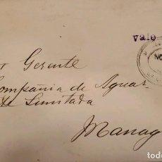 Sellos: O) 1906 NICARAGUA, ESCUDO DE ARMAS. NOTA DEL BANCO AMERICANO CON RECARGO, CIRCULADA A MANAGUA. Lote 289770983