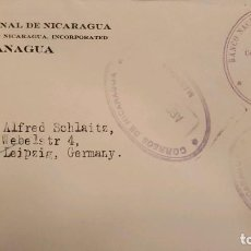 Sellos: O) NICARAGUA, BANCO NACIONAL DE NICARAGUA, CATEDRAL DE LEON, OFICIAL SOBREIMPRESO, PORTADA CIRCULADA. Lote 289771018