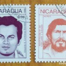 Sellos: LOTE SELLO DE NICARAGUA - HEROES Y MARTIRES DE LA REVOLUCION - ESCOBAR PEREZ - EDUARDO CONTRERAS. Lote 295423393