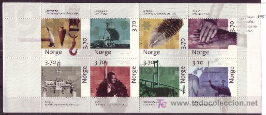 NORUEGA CARNET 1203*** - AÑO 1997 - 350º ANIVERSARIO DEL CORREO NORUEGO (Sellos - Extranjero - Europa - Noruega)
