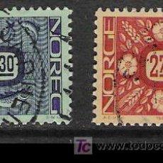 Sellos: NORUEGA 1987. BÁSICOS, ORNAMENTOS, SALMÓN Y FLORES. Lote 3510949