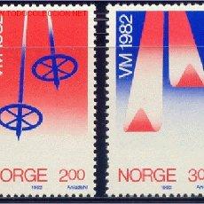 Sellos: NORUEGA 1982 809/10 DEPORTES 2V . Lote 1906462