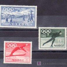 Sellos: NORUEGA 337/9 CON CHARNELA, DEPORTE, SELLO PROPAGANDA PARA LOS JUEGOS OLIMPICOS, DE INVIERNO, . Lote 11780883