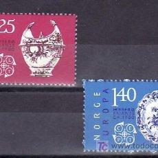 Sellos: NORUEGA 680/1 SIN CHARNELA, TEMA EUROPA 1976, ARTESANIA, CERAMICA, PORCELANA, . Lote 9843732
