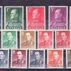 Sellos: NORUEGA 381/90, 381A/B, 383A/B, 384A, 385A CON CHARNELA, MONARQUIA, REY OLAV V, . Lote 10779941