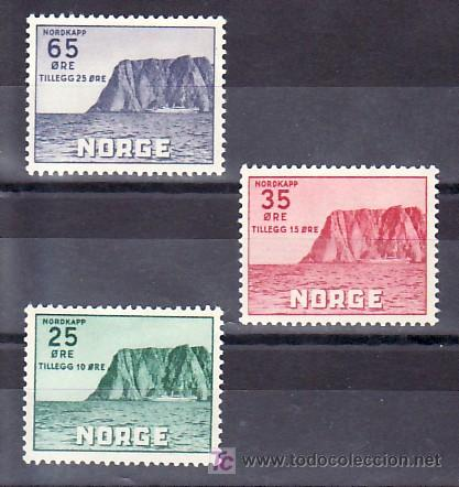 NORUEGA 373/5 SIN CHARNELA, CABO NORTE, ASOCIACION TURISTICA, (Sellos - Extranjero - Europa - Noruega)