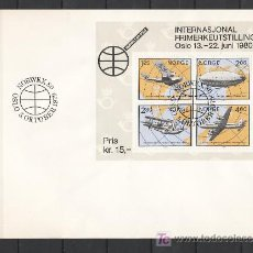 Sellos: NORUEGA HB 3 PRIMER DIA, HISTORIA DE LA AVIACION, NORWEX 80 EXPOSICION FILATELICA INTERNACIONAL . Lote 11598402