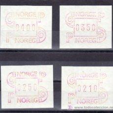 Sellos: NORUEGA ETIQUETAS 3 (AÑO 1986 4 VALORES), SIN CHARNELA. Lote 9830732