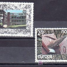 Sellos: NORUEGA 921/2 SIN CHARNELA, TEMA EUROPA 1987, ARQUITECTURA MODERNA, . Lote 11966764