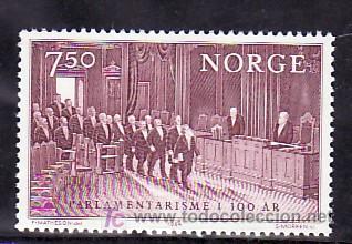 NORUEGA 869 SIN CHARNELA, CENTENARIO DEL PARLAMENTO EN NORUEGA, (Sellos - Extranjero - Europa - Noruega)