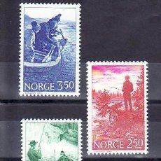 Sellos: NORUEGA 855/7 SIN CHARNELA, DEPORTE, BARCO, PECES, FAUNA, PESCA DEPORTIVA, . Lote 9833164