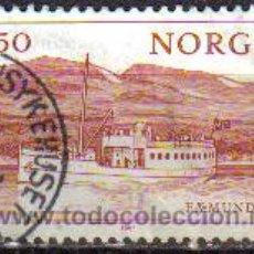 Sellos: NORUEGA 1981 SCOTT 0788 SELLO PAISAJE BARCO FAEMUND II DE 1905 EN LAGO FERMUND USADO NORWAY NORVÈGE . Lote 10729669
