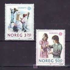 Sellos: NORUEGA 976/7 SIN CHARNELA, TEMA EUROPA 1989, JUEGOS INFANTILES, . Lote 31229264