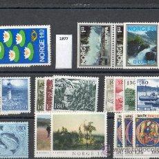 Sellos: NORUEGA AÑO 1977 YV 693/13*** COMPLETO. Lote 26389801