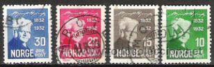 414-NORUEGA NORGE SERE COMPLETA 1932 Nº155/8.VALOR CLASICOS 7,00€ (Sellos - Extranjero - Europa - Noruega)