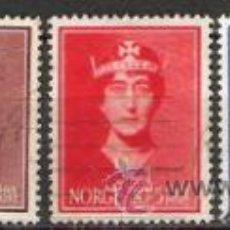Sellos: 417-NORUEGA NORGE SERE COMPLETA 1939 Nº 195/8 .VALOR CLASICOS 40,00€ SEVICIO . Lote 30439909