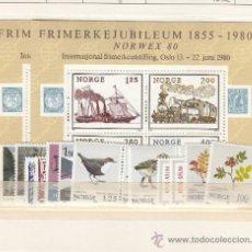 Sellos: NORUEGA 765/82, HB4 SIN CHARNELA, AÑO 1980 VALOR CAT 25.25 EUROS +. Lote 34505543