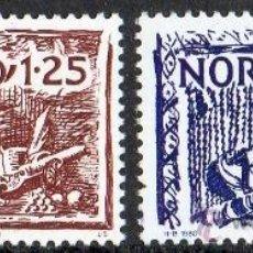 Sellos: NORUEGA AÑO 1980 YV 777/78*** NORDEN 80 - ARTESANÍA ANTIGUA - PLACAS ORNAMENTALES. Lote 35481700