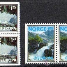 Sellos: NORUEGA AÑO 1977 YV 698 A/99 A*** (PAREJA DE SELLOS) EUROPA - TURISMO - VISTAS Y PAISAJES. Lote 35481893