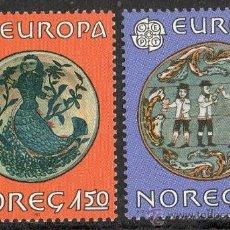 Sellos: NORUEGA AÑO 1981 YV 792/93*** EUROPA - FOLKLORE - TRADICIONES Y COSTUMBRES - FIESTAS POPULARES. Lote 35482056