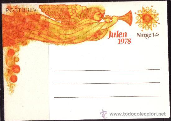 NORUEGA *** - AÑO 1978 - AEROGRAMA - NAVIDAD (Sellos - Extranjero - Europa - Noruega)
