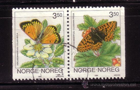 NORUEGA 1107A - AÑO 1994 - FAUNA - MARIPOSAS (Sellos - Extranjero - Europa - Noruega)