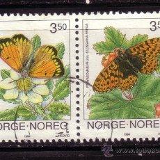 Sellos: NORUEGA 1107A - AÑO 1994 - FAUNA - MARIPOSAS. Lote 36327660