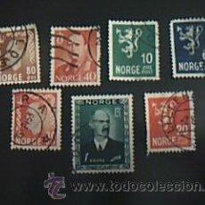 Sellos: LOTE 7 SELLOS DE NORGE. Lote 38008229