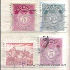 Sellos: NORUEGA - LOTE DE SELLOS X 4. Lote 39517572