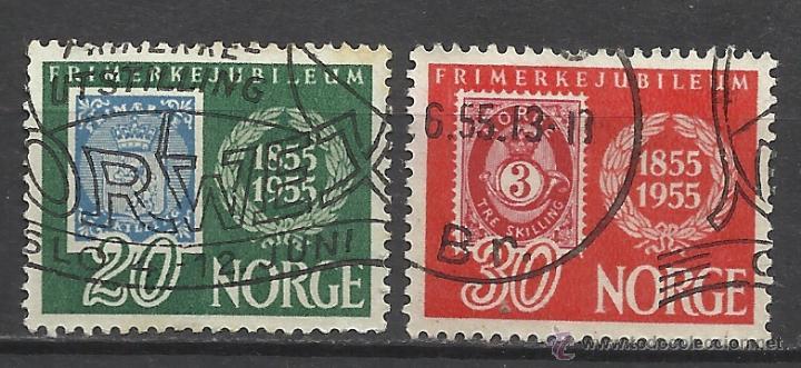 1761.SELLO DIFICILES NORUEGA AÑO 1955 Nº 358/9.NORGE YVERT 33,00€,PERFECTOS. NORVÈGE 1761.SELLO ANNÉ (Sellos - Extranjero - Europa - Noruega)