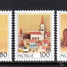Sellos: NORUEGA 743/45** - AÑO 1978 - JUGUETES ANTIGUOS - MUSEO FOLKLORICO NACIONAL. Lote 121263200