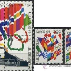 Sellos: NORUEGA 1994 SERIE LILLEHAMMER PRIMER DIA 6 VALORES. Lote 49655384
