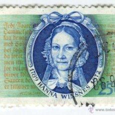 Sellos: NORUEGA 1989. CENTENARIES OF PERSONALITIES - HANNA WINSNES (1789 – 1872) POETA Y ESCRITORA. Lote 50587090