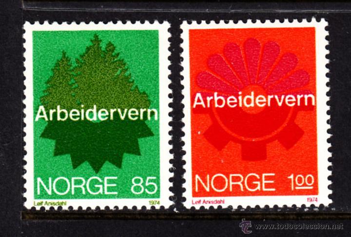 NORUEGA 641/42** - AÑO 1974 - SEGURIDAD EN EL TRABAJO (Sellos - Extranjero - Europa - Noruega)
