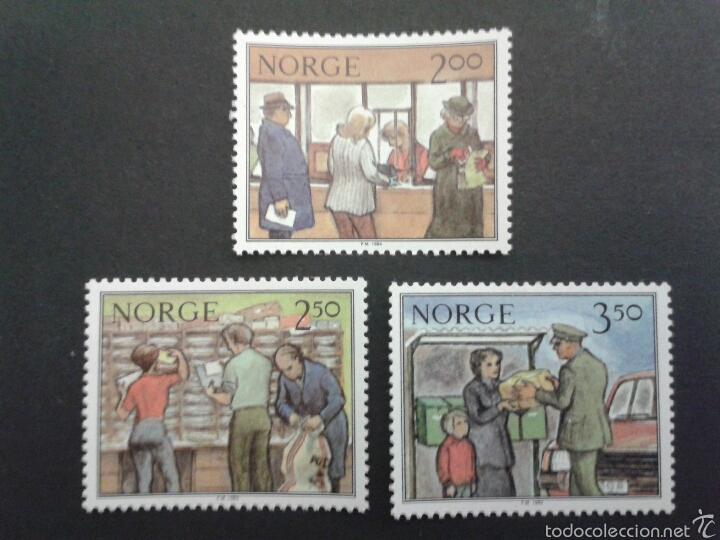 SELLOS DE NORUEGA. YVERT 852/4. SERIE COMPLETA NUEVA SIN CHARNELA. (Sellos - Extranjero - Europa - Noruega)