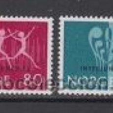 Sellos: NORUEGA 609/10** - AÑO 1972 - EXPOSICIÓN FILATÉLICA INTERNACIONAL DE LA JUVENTUD INTERJUNEX 72. Lote 53232755