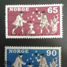 Sellos: SELLOS DE NORUEGA. YVERT 518/9. SERIE COMPLETA USADA. ARTESANÍA EN HIERRO. HERREROS. Lote 53262746