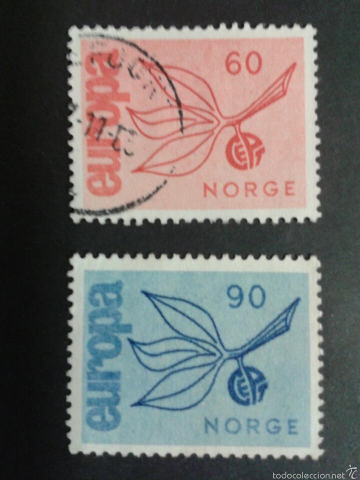 SELLOS DE NORUEGA. YVERT 486/7. SERIE COMPLETA USADA. EUROPA CEPT (Sellos - Extranjero - Europa - Noruega)