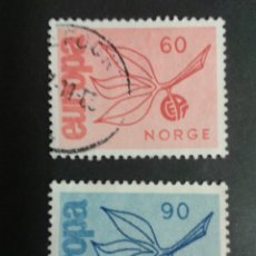 Sellos: SELLOS DE NORUEGA. YVERT 486/7. SERIE COMPLETA USADA. EUROPA CEPT. Lote 53262961