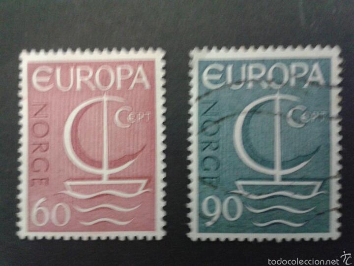 SELLOS DE NORUEGA. YVERT 501/02 SERIE COMPLETA USADA. EUROPA CEPT (Sellos - Extranjero - Europa - Noruega)