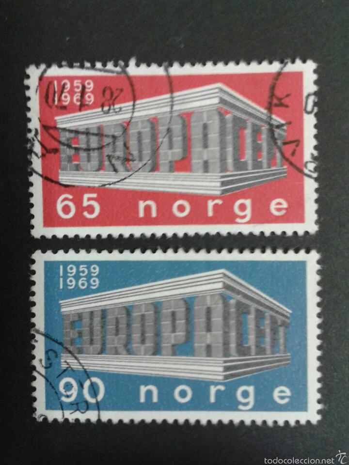 SELLOS DE NORUEGA. YVERT 538/9. SERIE COMPLETA USADA. EUROPA CEPT (Sellos - Extranjero - Europa - Noruega)