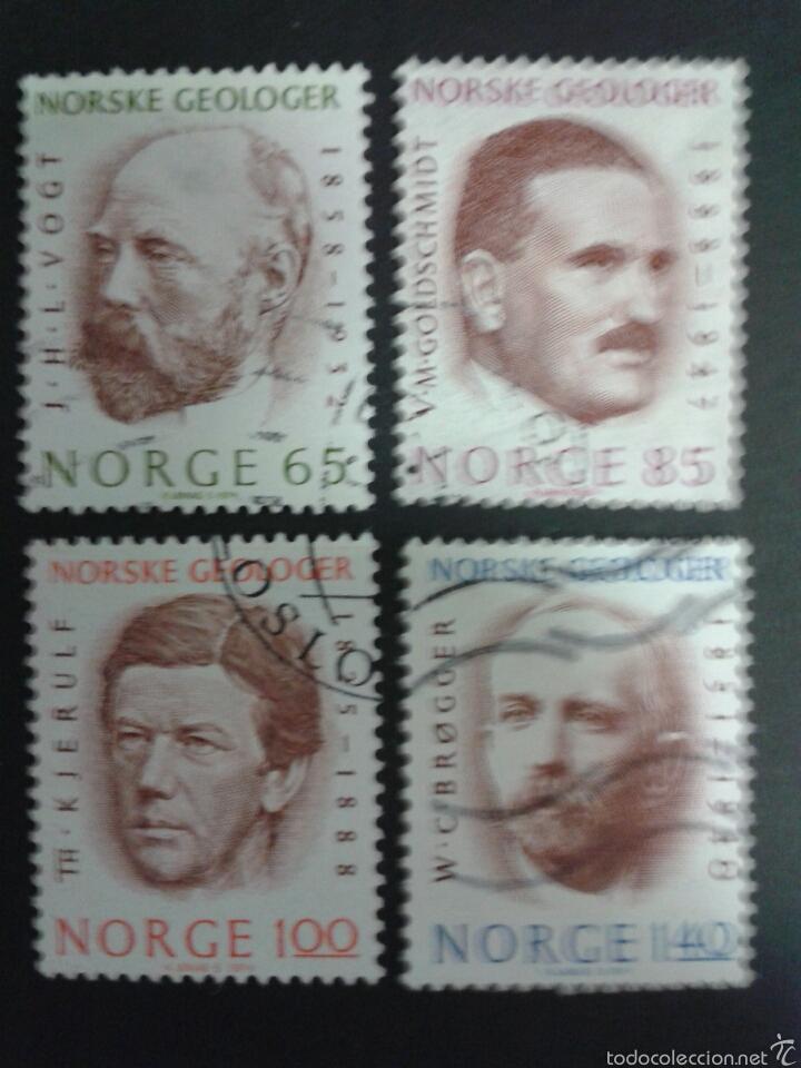 SELLOS DE NORUEGA. YVERT 643/6. SERIE COMPLETA USADA. (Sellos - Extranjero - Europa - Noruega)