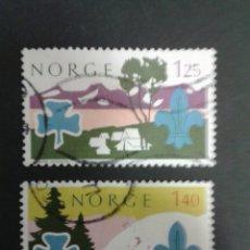 Sellos: SELLOS DE NORUEGA. YVERT 661/2. SERIE COMPLETA USADA. SCOUTS. Lote 53263004